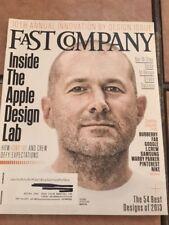 FAST COMPANY Magazine Inside the Apple Design Lab  Oct. 2013