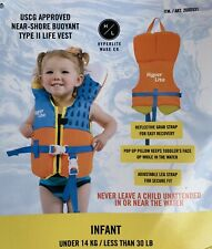 Hyperlite USCG Approved Infant Water Life Vest Type II Unisex Under 30 Lbs NWT