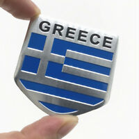 3D Aluminum Car Stickers GREECE Flags Emblem Badge Grill Decal Bumper Decoration