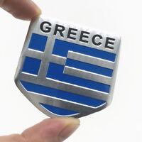 3D Aluminum Car Stickers GREECE Flags Emblem Badge Grill Decal Bumper Decoration