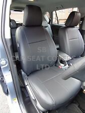 TO FIT A TOYOTA VERSO TAXI 7 SEATER, CAR SEAT COVERS, 2011, BLACK LEATHERETTE