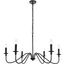 Elegant Lighting LD5006D36MB - Chandeliers Indoor Lighting