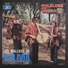 LOS MALLKUS DE BOLIVIA: Folklore Del Mundo LP (Spain, Huayno, a few small stain
