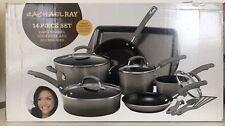 Rachael Ray 14 Pc Hard Enamel Cookware Set  Gray Gradient | NEW FREE SHIPPING |