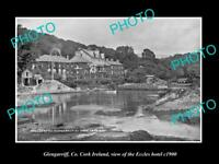 OLD LARGE HISTORIC PHOTO OF GLENGARRIFF CORK IRELAND, THE ECCLES HOTEL c1900