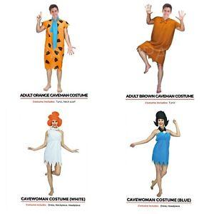 Adult Fred Flintstones Wilma Barney Costume Caveman Halloween Outfit 70s Cartoon