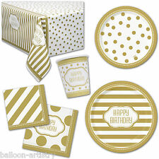 Gold Golden Style Happy Birthday Party Plates Cups Napkins Tableware Listing