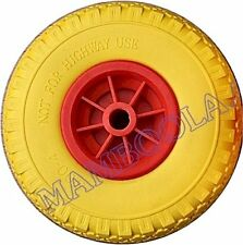 PUNCTURE PROOF PU TYRE on Red Wheel ONE ONLY - jockey wheels / spare wheel etc.