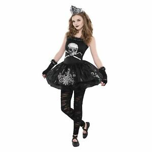 Girls Zomberina Costume Zombie Gothic Halloween Fancy Dress Outfit 14-16 yrs