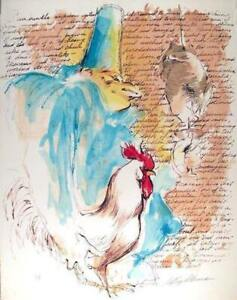 LeRoy Neiman, Punchinello with Text, Lithograph on Arches, signed and numbered i
