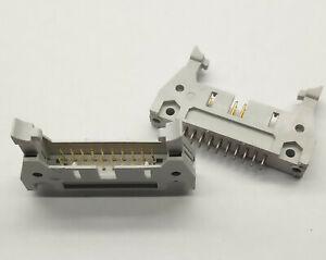 2 PCS. IDC box header male right latched 20 pole 2.54mm