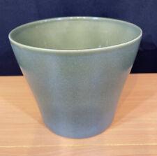Vtg Scheurich German Pottery Green Planter Pot 808-17 Excellent Preown Condition