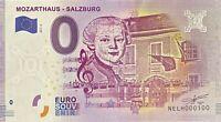 BILLET 0  EURO  MOZARTHAUS SALZBURG AUTRICHE  2017  NUMERO 100