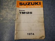 1973-1974 SUZUKI TM125 PARTS CATALOGUE MANUAL 2nd EDITION 73 74 TM 125 K L