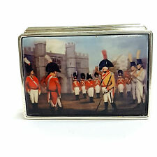 Large Sterling Silver Hallmarked George iii At windsor castle Trinket Pill Box