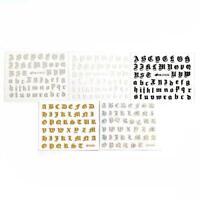 5pcs 3D Nail Sticker Ancient English Letter Nail Sticker Transfer Water Dec A0S0