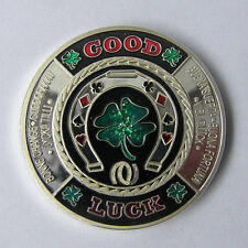 Good Luck Silver Poker Card Guard