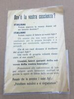VECCHIO VOLANTINO LEVA MILITARE DIFESA GUERRA 1944