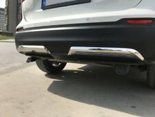 FIT FOR NISSAN QASHQAI CHROME REAR DIFFUSER 2 PCS 2017-ONWARDS