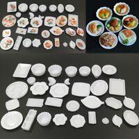 33Pcs/set Dollhouse Miniature Dish Tableware Kitchen Mini Food Plates Kids Toy