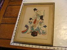 vintage Framed Print: THREE ASIAN LADIES
