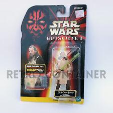 STAR WARS Kenner Hasbro Action Figure - EPISODE I - Qui-Gon Jinn (Jedi Duel)
