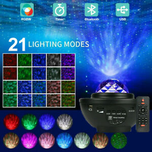 LED Galaxy Projection Starry Music Night Light Laser Project Lamp Romantic Decor