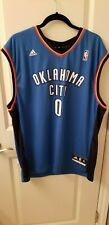 Adidas Dri fit Oklahoma City Thunder RUSSELL WESTBROOK Jersey MEN'S XL