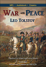 War and Peace by Leo Tolstoy - MP3 CD Audiobook in DVD case