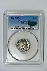 1938-D/D PCGS MS66 Buffalo Nickel with CAC Sticker - Really Nice Coin!!!
