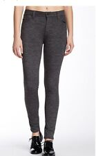 7 for all mankind high waisted skinny knit pant 29 heathered charcoal