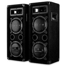 Pack DJ PA set compact sono 2 enceintes 1200w max caisson basse + ampli - noir