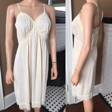Vintage Saks Fifth Avenue Creamy Ivory Full Slip Dress sz Large