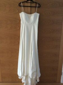 Jenny Yoo ivory wedding gown long with train size 12 new with tags & cover