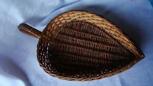 "Vintage Wicker Basket Teardrop Collection Cracker 14"""