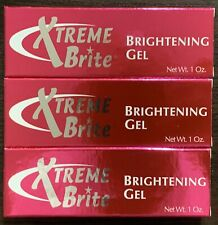 Pack Of 3 xtreme brite brightening gel 1 Oz / 30g Each Brand New Free Shipping