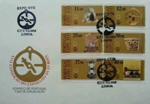 [SJ] Portugal EXPO XVII 1983 Old Time Past Traditional Tools Culture (FDC *clean