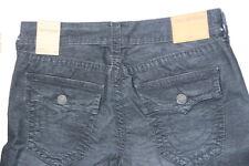 True Religion Men Cut Off Corduroy Black  Shorts 29