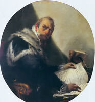 Oil Giovanni Battista Tiepolo - Old man portrait of antonio riccobono no framed