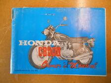 1973 Honda CB500 Factory Owners Manual