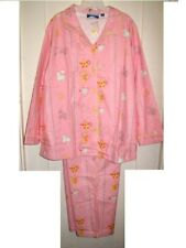 Lovely Pink Kitty Tea Party Flannel Pajamas/PJ's NWT 1X