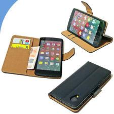 Custodia in pelle ETUI portafoglio con stand per LG NEXUS 5 E980 + pellicola