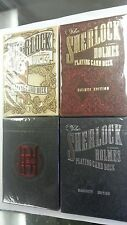Set of 4 Sherlock Holmes Playing Cards Deck Brand New by Kings Wild