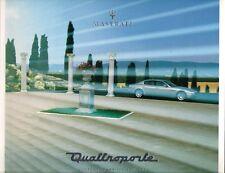Maserati Quattroporte 4.2 2003-04 UK Market Bilingual Sales Brochure