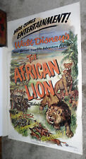THE AFRICAN LION original 1955 DISNEY 27x41 one sheet movie poster