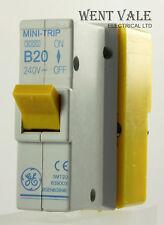 GE MINI TRIP-smt20 639003 - 20a TIPO B Plug-in Single Pole MCB e base NUOVA