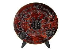 "Australian Souvenir 7.5"" Display Plate with Stand Aboriginal Art Australia"