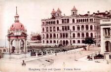 Photo 1907 China Hong Kong Club & Queen Victoria Statue