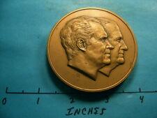 7 OZ RICHARD NIXON SPIRO AGNEW 1973 INAUGURATION VINTAGE BRONZE COIN