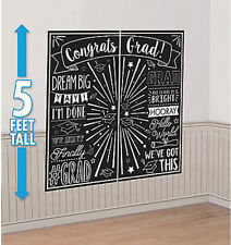Scene Setter GRADUATION party wall decor kit Black & White PHOTO BACKDROP grad